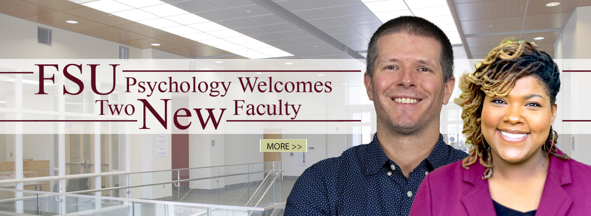 The Psychology Department is pleased to announce the addition of two faculty members for the 2020-2021 academic year.