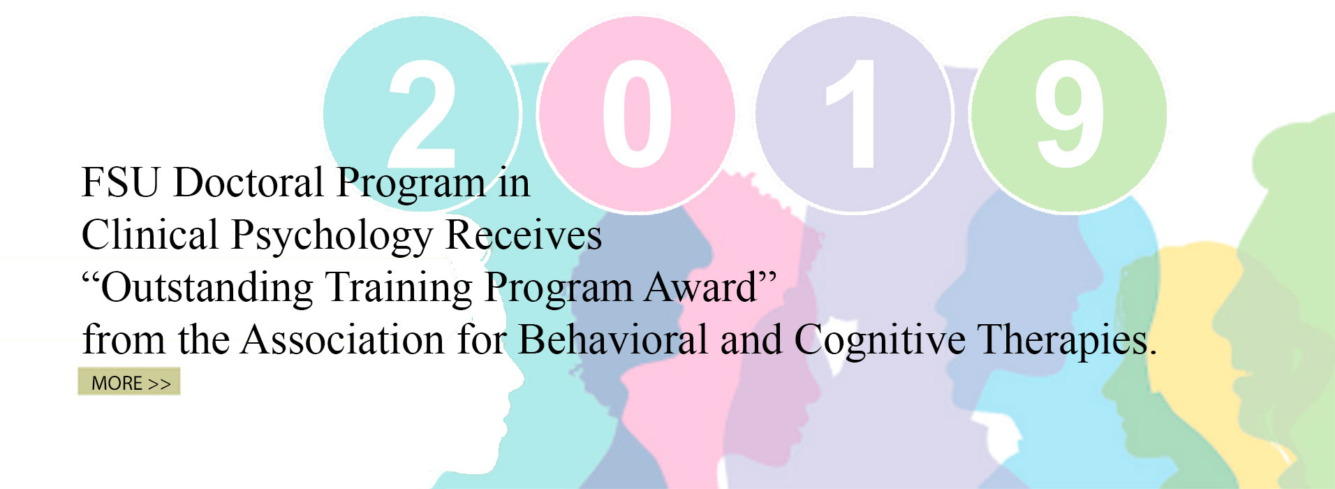Clinical Psychology Doctoral Program Receives Outstanding Training Program Award from ABCT