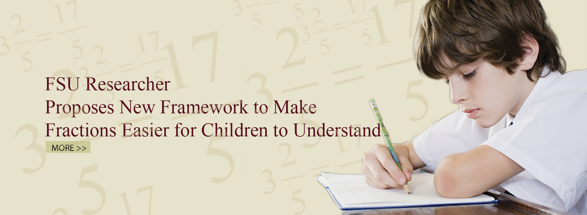 FSU Researcher Proposes New Framework to Make Fractions Easier for Children to Understand