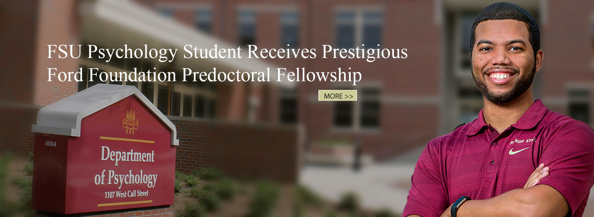 Psychology Student Receives Ford Foundation Predoctoral Fellowship
