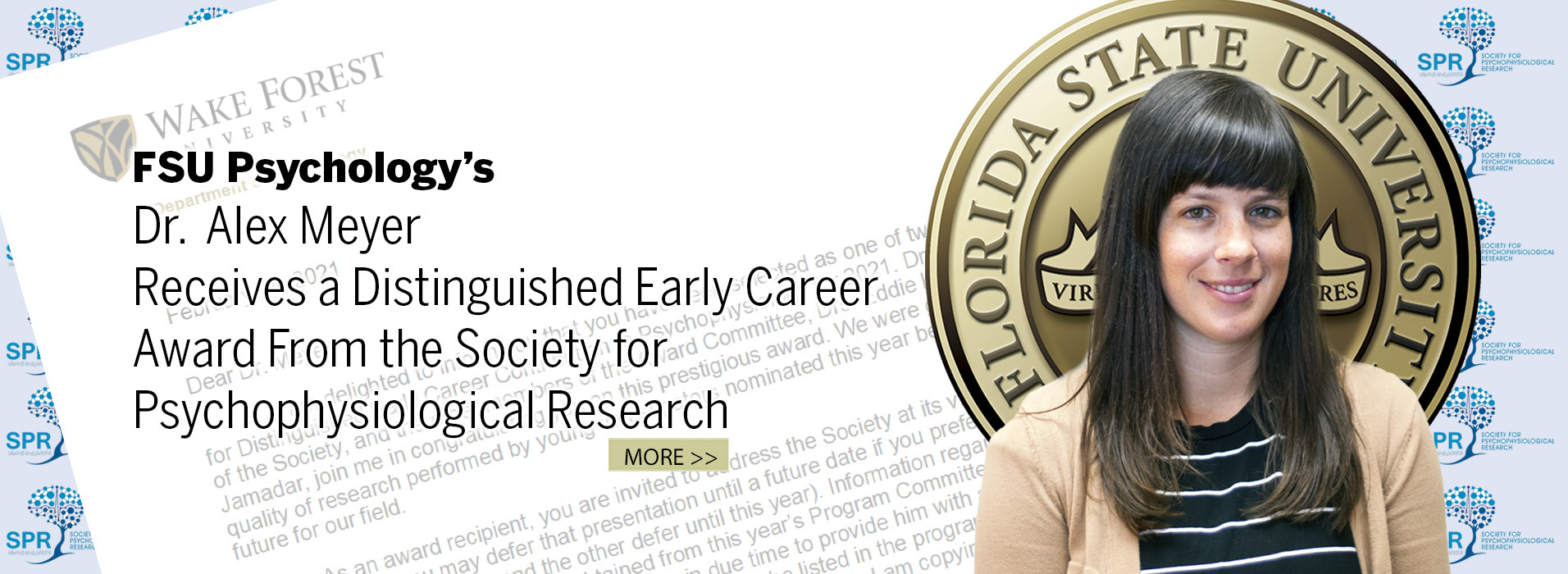 Dr.  Alex Meyer Receives a Distinguished Early Career Award From the Society for Psychophysiological Research