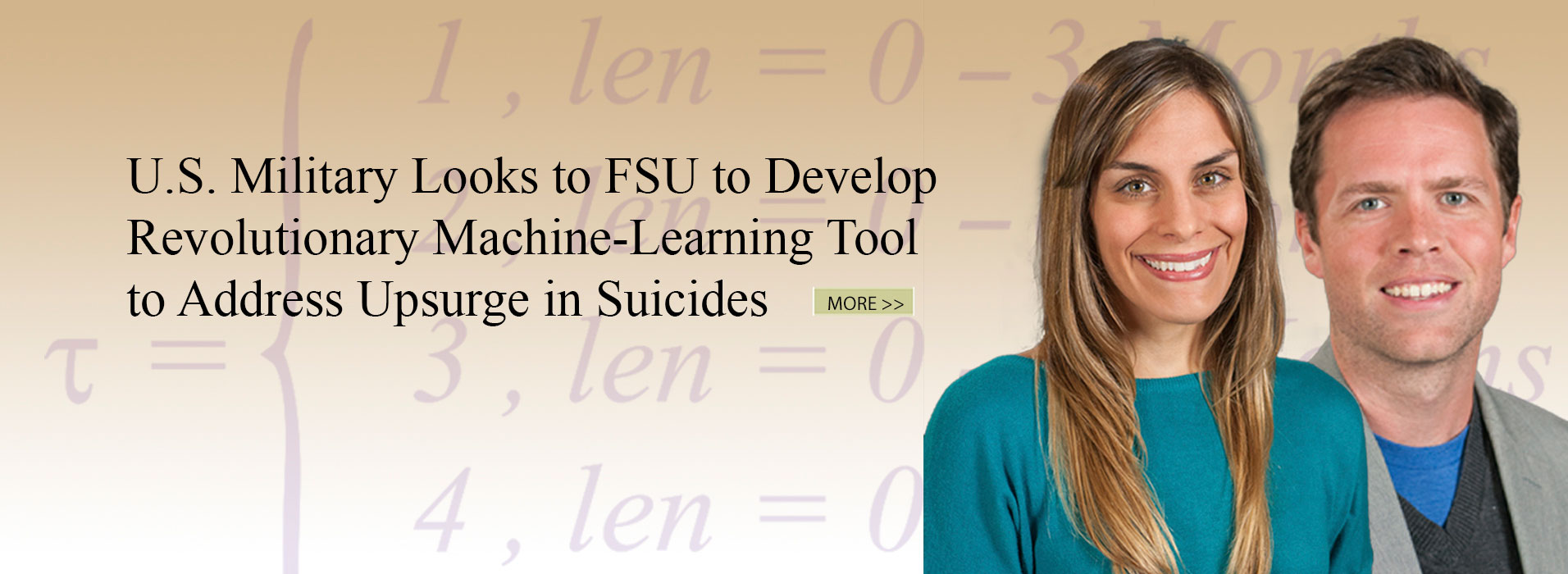 U.S. Military Looks to FSU to Develop Revolutionary<br>Machine-Learning Tool to Address Upsurge in Suicides
