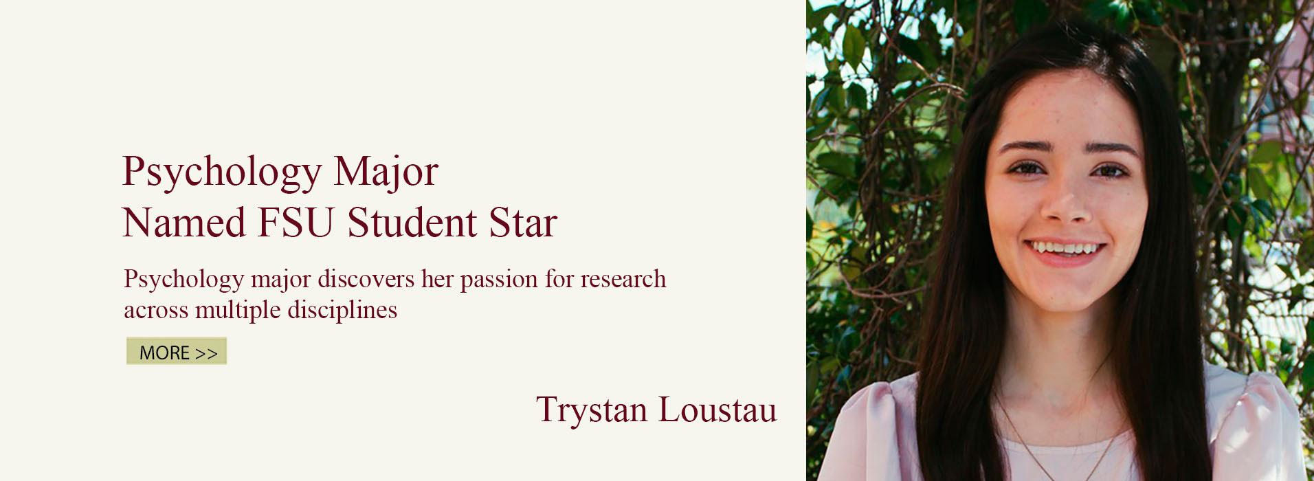 Psychology Major Named FSU Student Star
