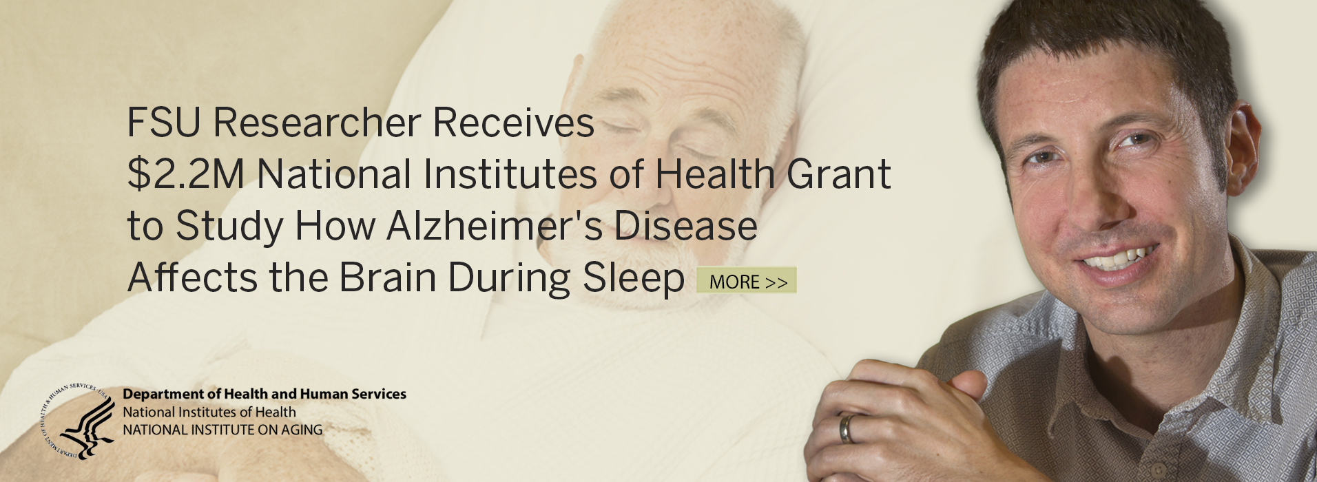 FSU Researcher Receives $2.2M National Institutes of Health Grant to Study How Alzheimer's Disease Affects the Brain During Sleep