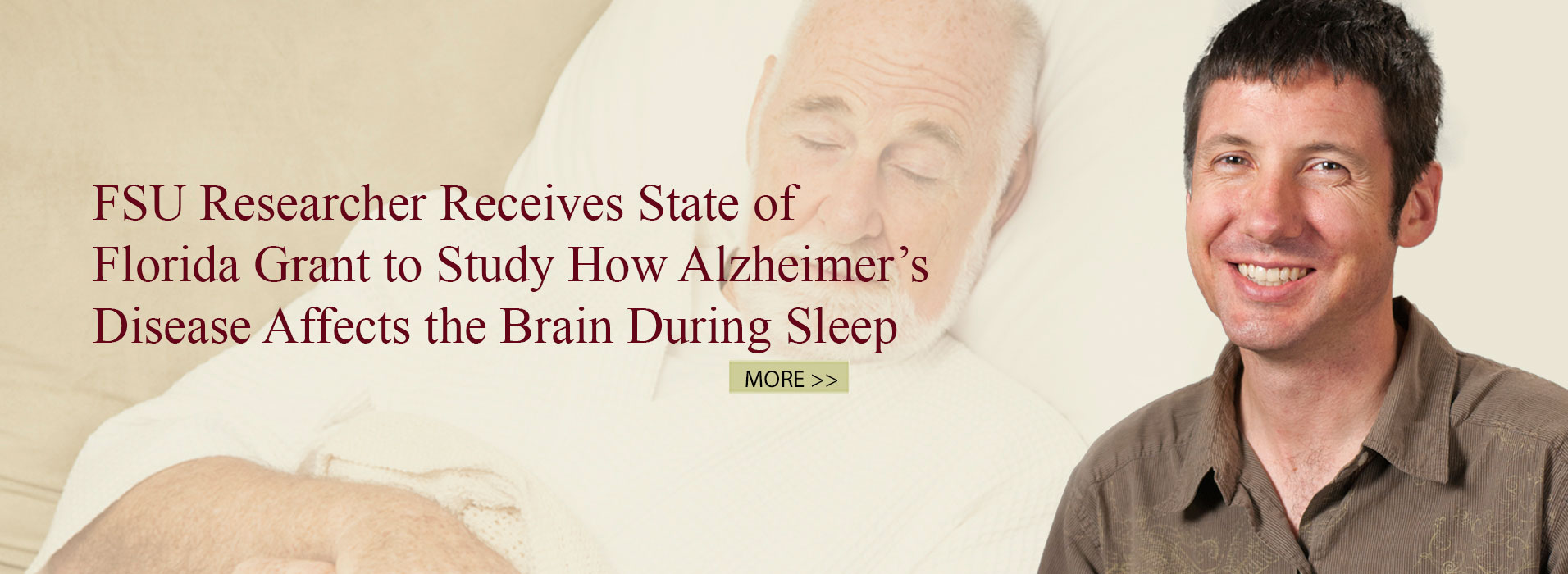 FSU Researcher Receives State of Florida Grant to Study How Alzheimer's Disease Affects the Brain During Sleep
